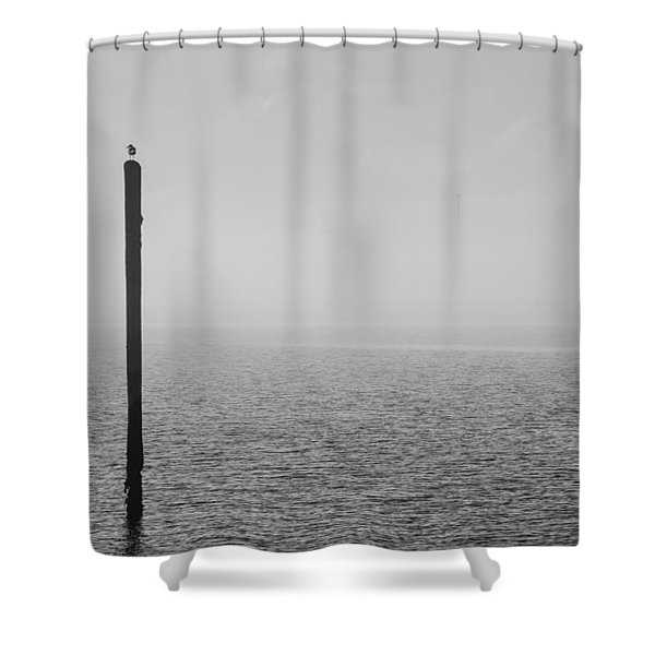 Fog On The Cape Fear River Shower Curtain