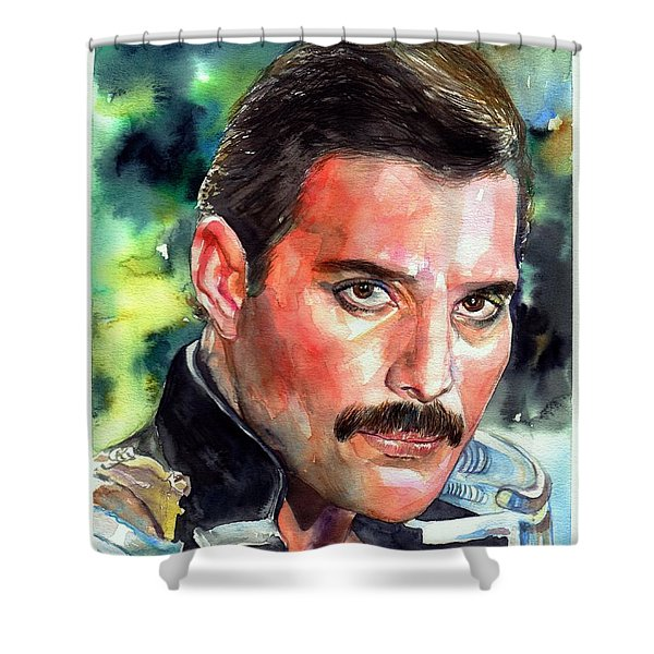 Freddie Mercury Portrait Shower Curtain