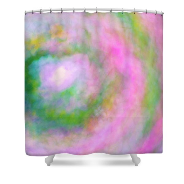 Shower Curtain featuring the photograph Impression Series - Floral Galaxies by Ranjay Mitra