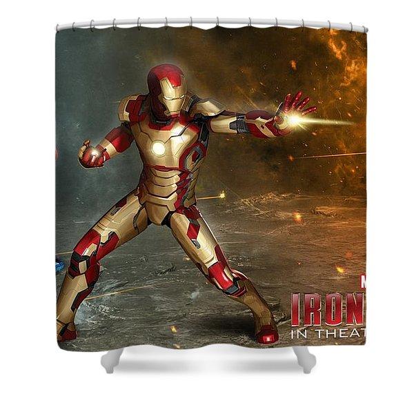 Iron Man 3 Shower Curtain