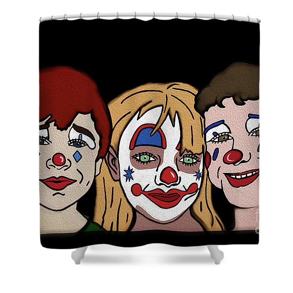 3 Jesters Shower Curtain