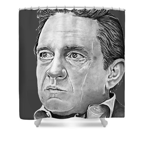 Johnny Cash Shower Curtain