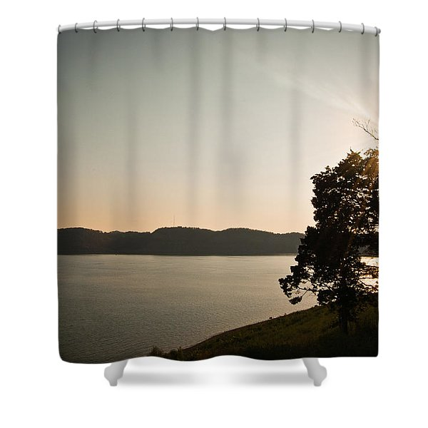 Lake Cumberland Sunset Shower Curtain