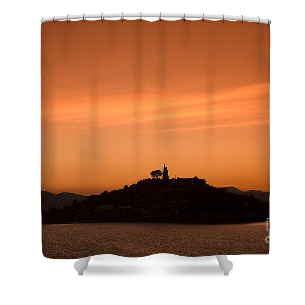 Lake Patzcuaro Shower Curtain