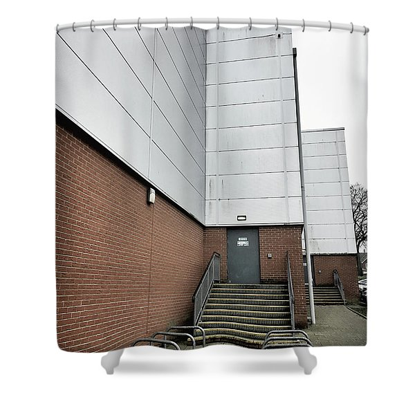 Modern Building Exterior Shower Curtain