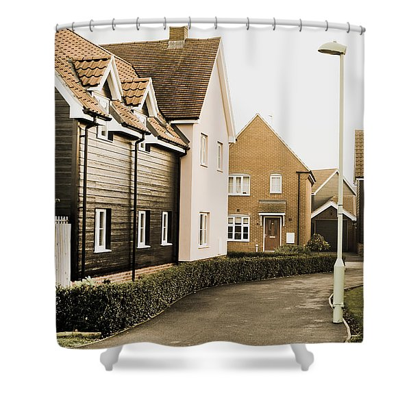 Modern Houses Shower Curtain