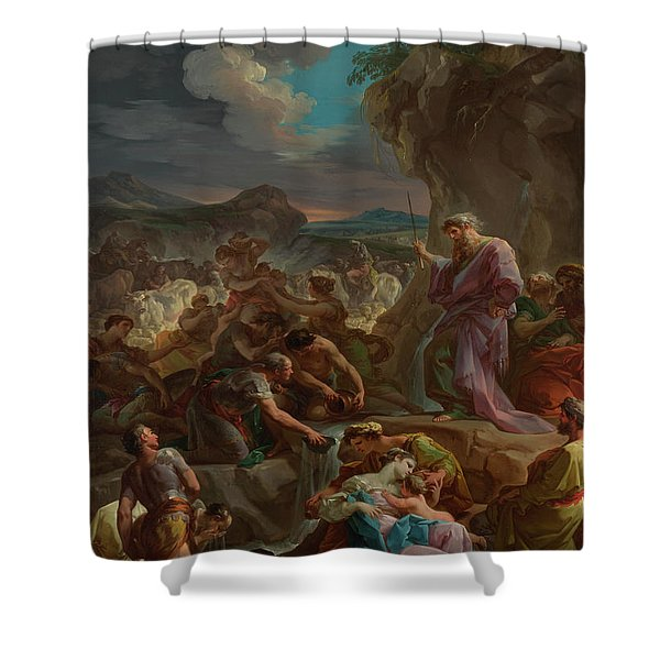 Moses Striking The Rock Shower Curtain