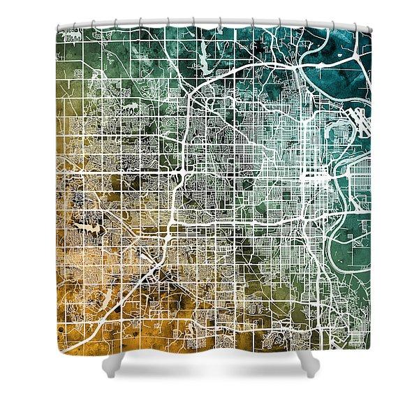 Omaha Nebraska City Map Shower Curtain