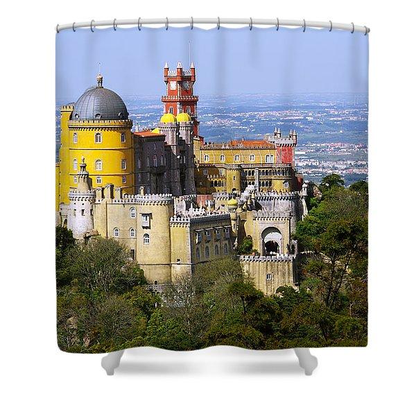Pena Palace Shower Curtain by Carlos Caetano