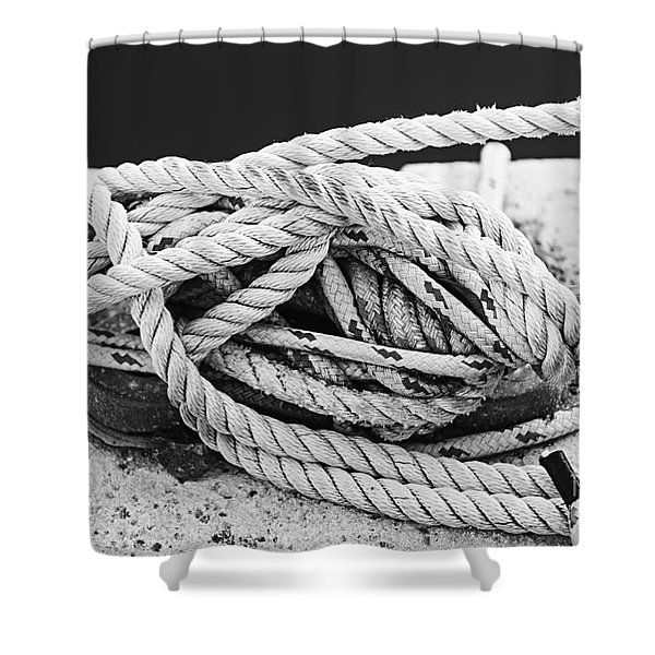 Ropes On Cleat Shower Curtain