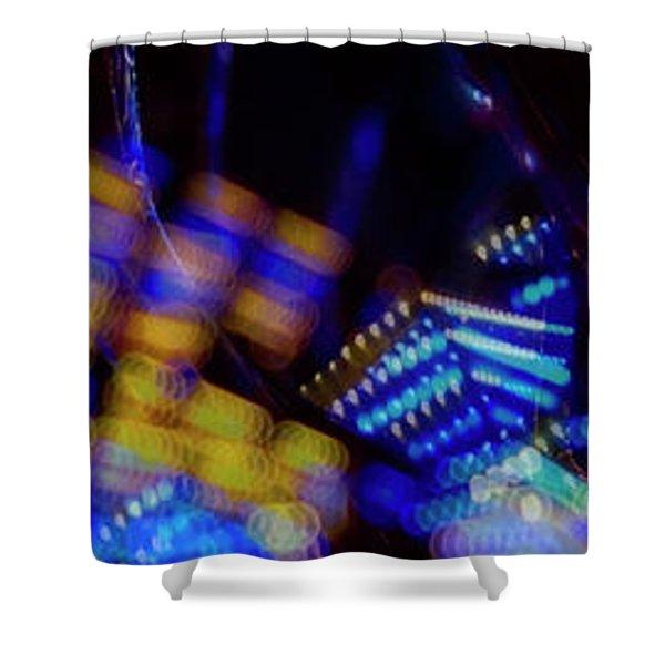 Singapore Night Urban City Light - Series - Your Singapore Shower Curtain