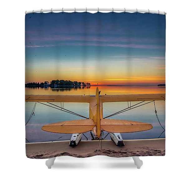 Splash-in Sunrise  Shower Curtain