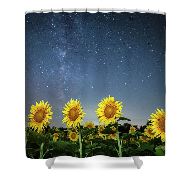Sunflower Galaxy Iv Shower Curtain