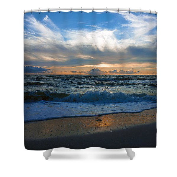 Sunset At Delnor-wiggins Pass State Park Shower Curtain