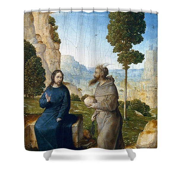 Temptation Of Christ Shower Curtain