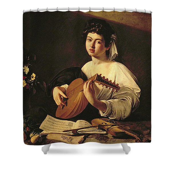 The Lute Player Shower Curtain