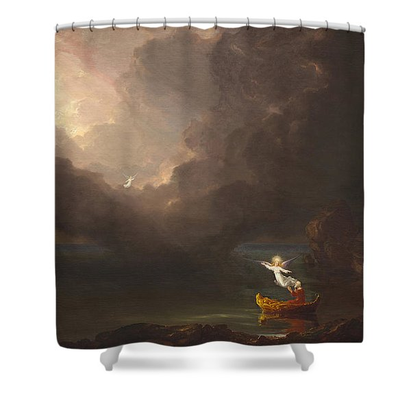 The Voyage Of Life Old Age Shower Curtain