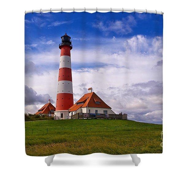 Westerhever Lighthouse Shower Curtain