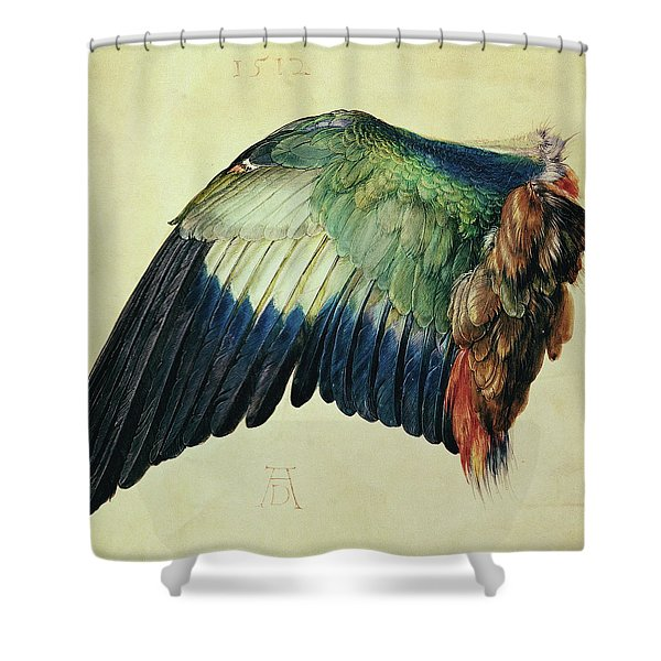 Wing Of A Blue Roller Shower Curtain