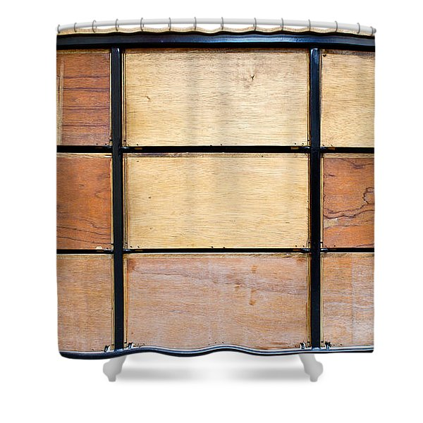 Wooden Crates Shower Curtain