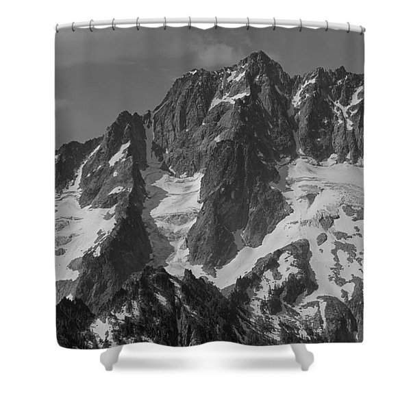 304630 Bw North Face Mt. Stuart Shower Curtain