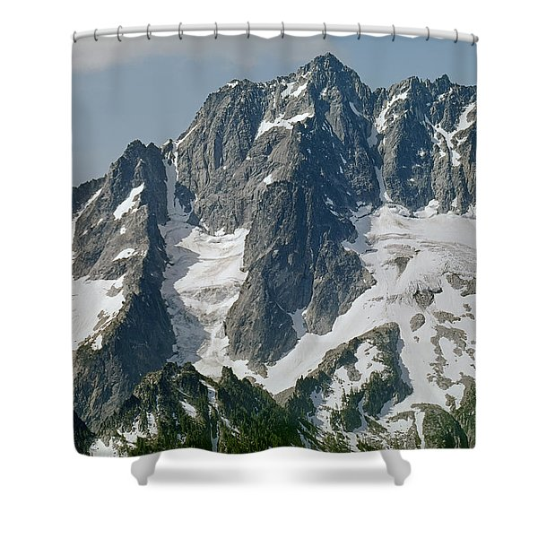 304630 North Face Mt. Stuart Shower Curtain
