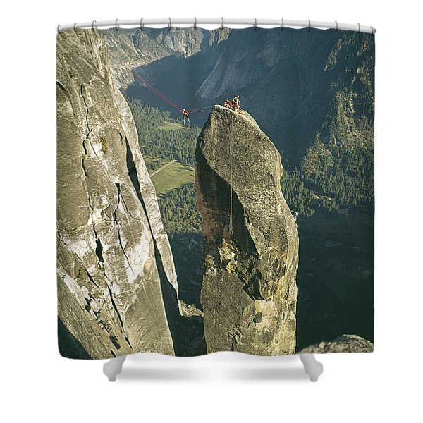 306540 Climbers On Lost Arrow 1967 Shower Curtain