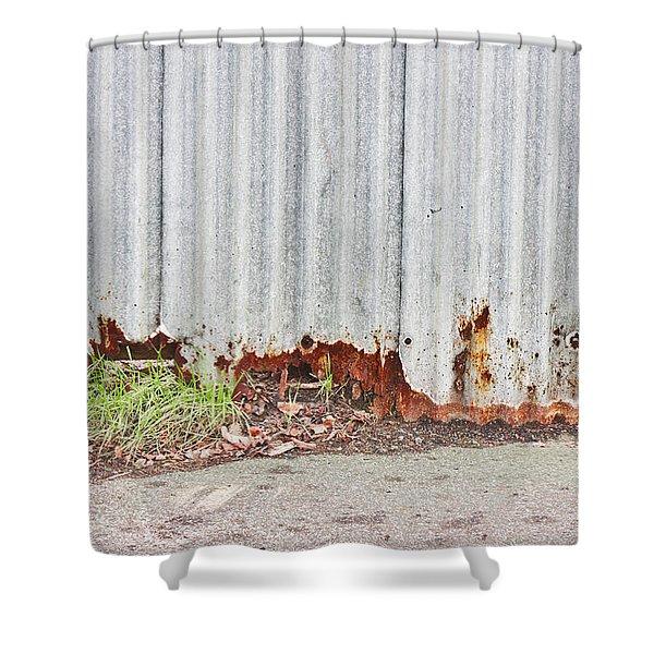Rusty Metal Shower Curtain