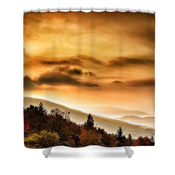 Allegheny Mountain Sunrise #33 Shower Curtain