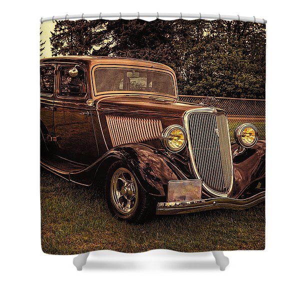 Cool 34 Ford Four Door Sedan Shower Curtain