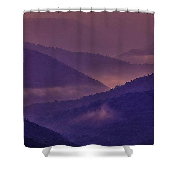 Allegheny Mountain Sunrise Two Shower Curtain