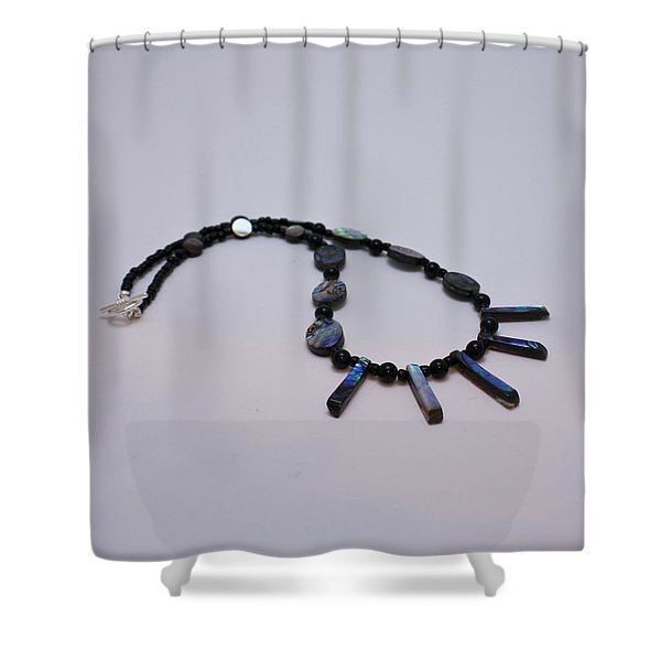 3513 Abalone Shell Necklace Shower Curtain by Teresa Mucha