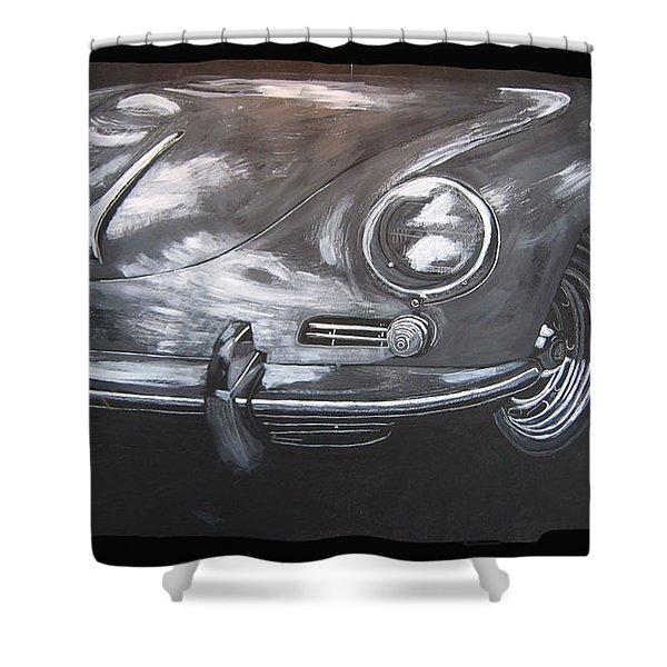 356 Porsche Front Shower Curtain