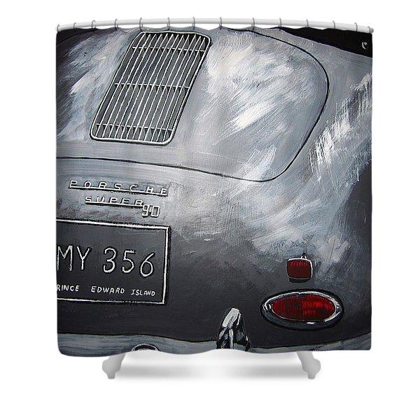 356 Porsche Rear Shower Curtain