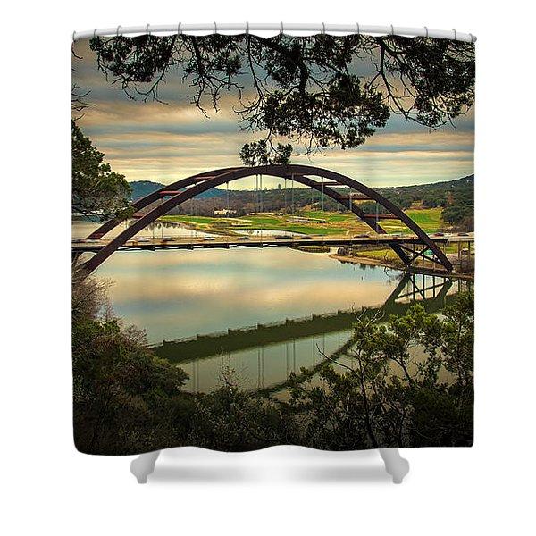 360 Bridge Shower Curtain