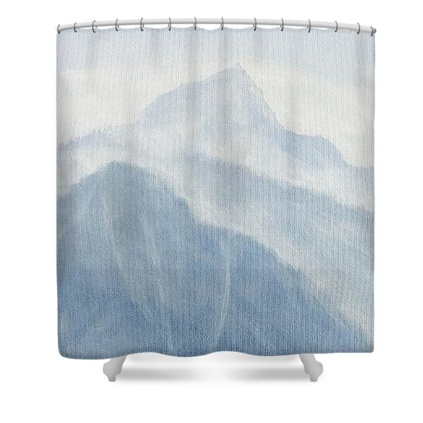 Shower Curtain featuring the painting 36.5616n 118.2251w by Kevin Daly