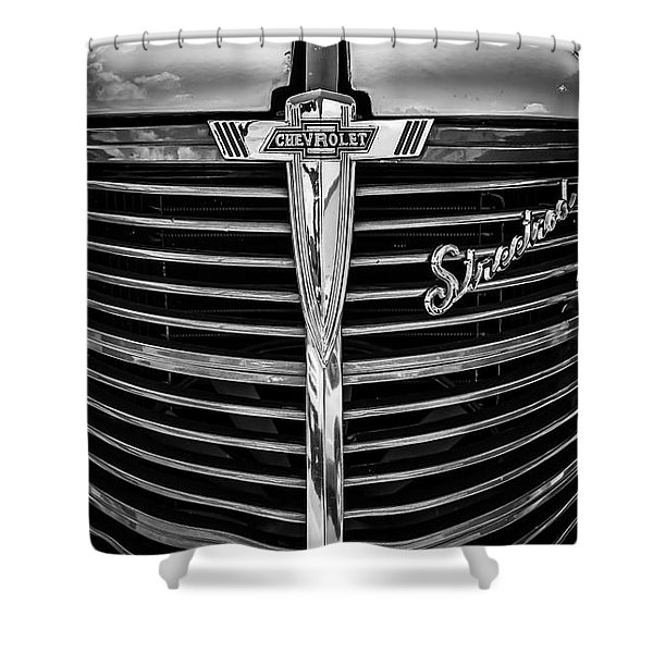 38 Chevy Truck Grill Shower Curtain