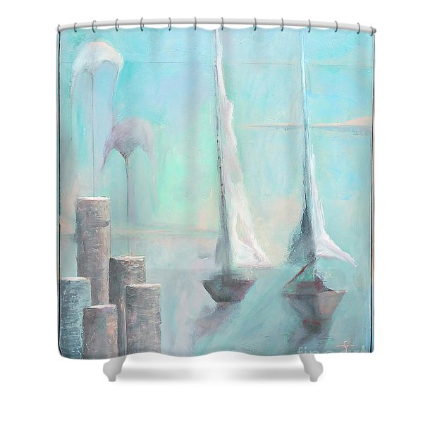 A Morning Memory Shower Curtain