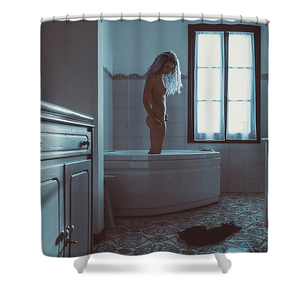Tu M'as Promis Shower Curtain