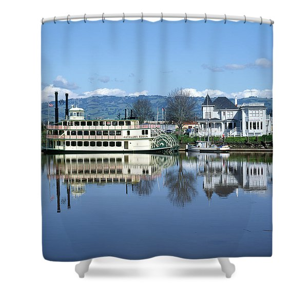 3b6380 Petaluma Queen Riverboat Shower Curtain
