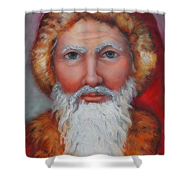 3d Santa Shower Curtain