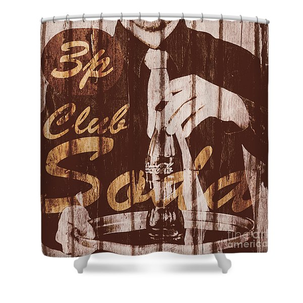 3p Club Soda Shower Curtain