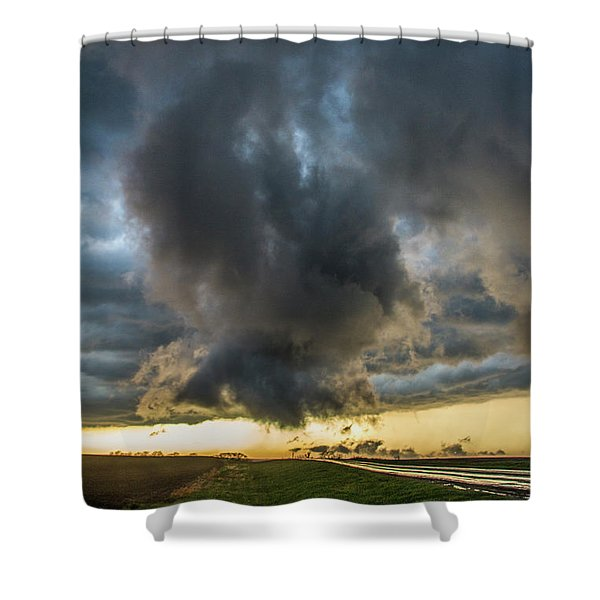 Shower Curtain featuring the photograph 3rd Storm Chase Of 2018 050 by NebraskaSC