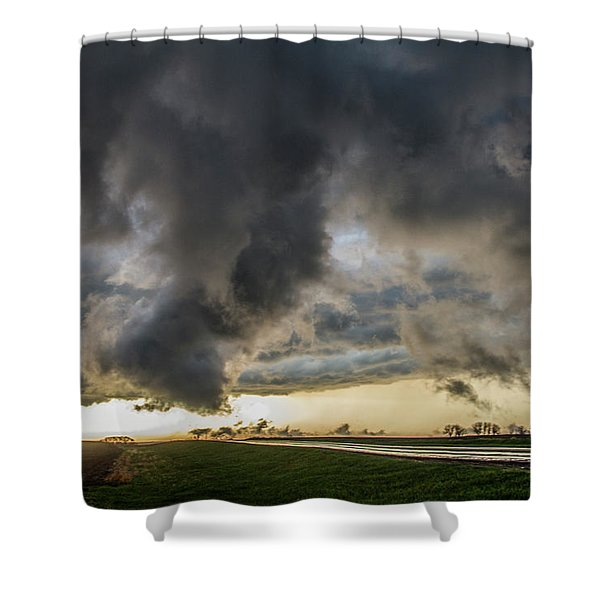 3rd Storm Chase Of 2018 051 Shower Curtain