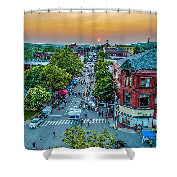 3rd Thursday Sunset Shower Curtain