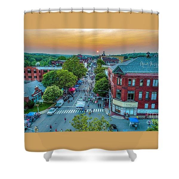 3rd Thursday Sunset Shower Curtain