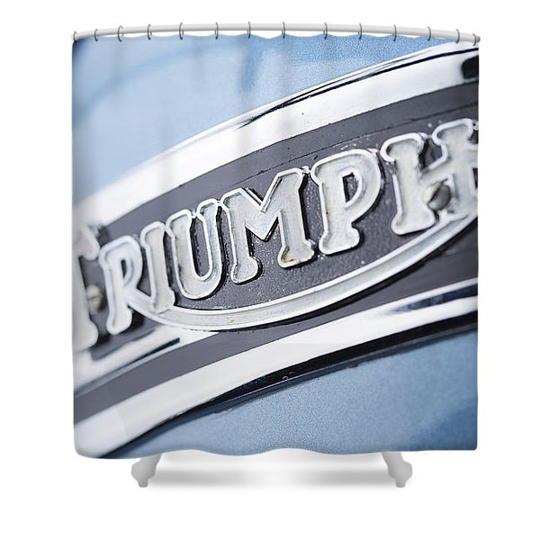 1949 Triumph Trophy Shower Curtain