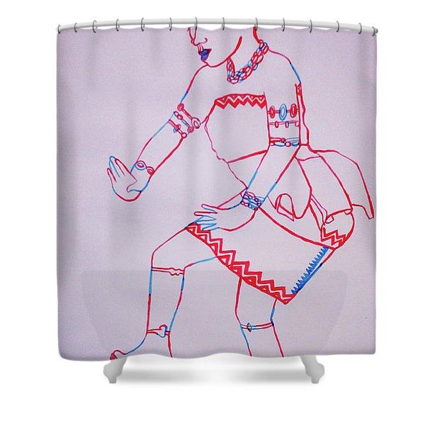 Adowa Dance Ghana Shower Curtain