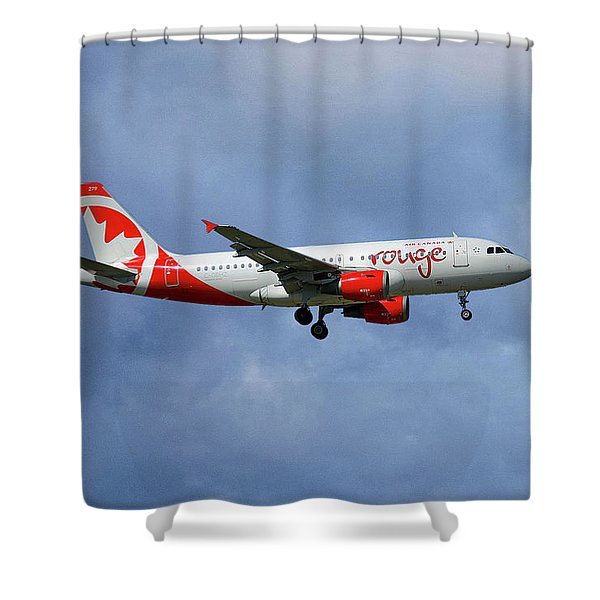 Air Canada Rouge Airbus A319-114 Shower Curtain