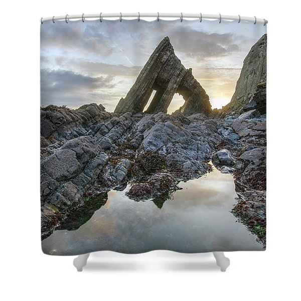 Blackchurch Rock - England Shower Curtain
